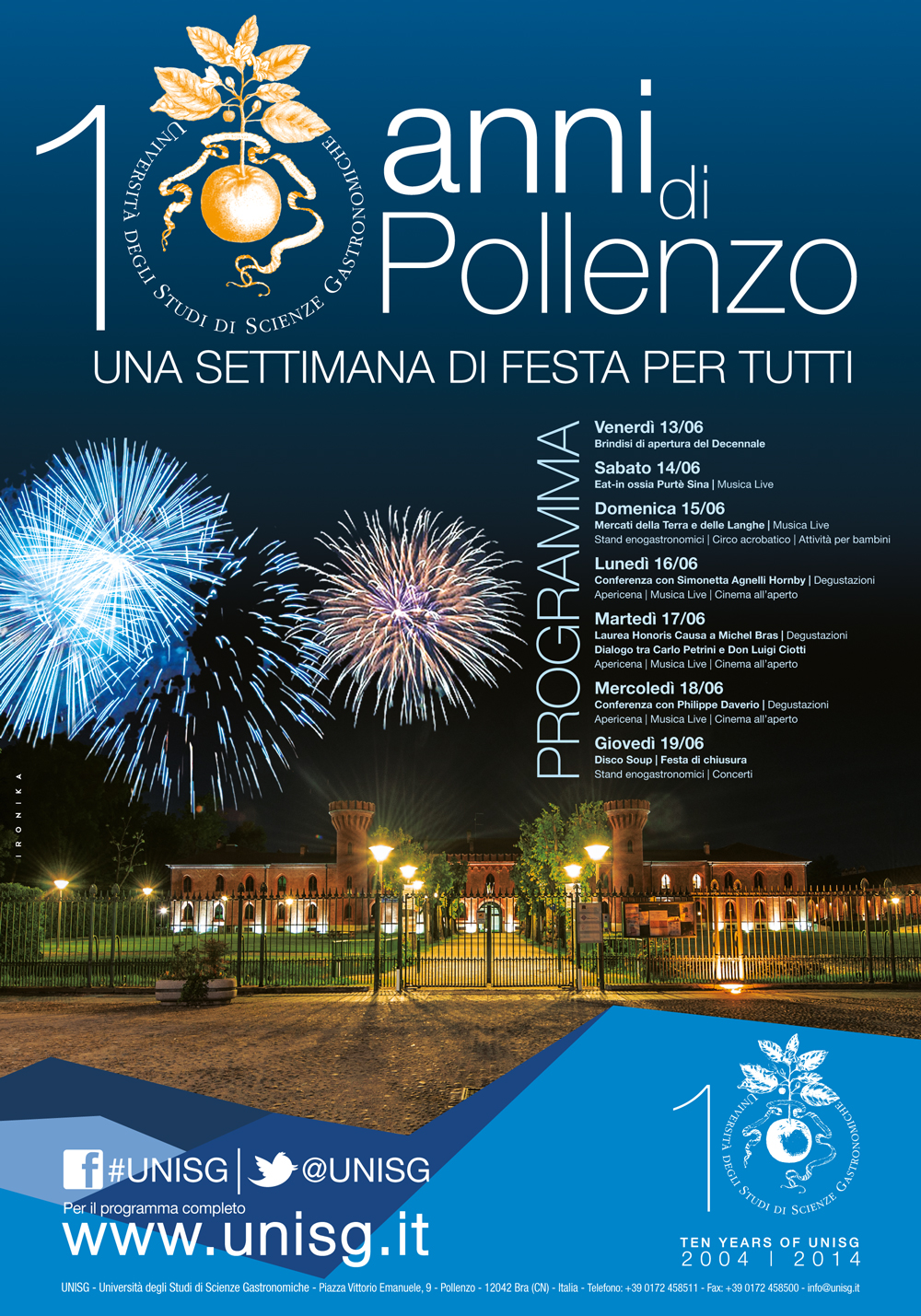 10 anni di Pollenzo / Celebration Week