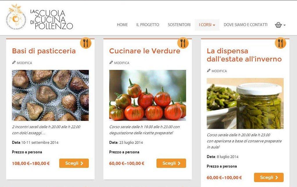 il sito della scuola di cucina di pollenzo online