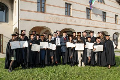 On Friday, the 15th of October, the graduation of 25 international students from the Master in Food Culture, Communication & Marketing takes place