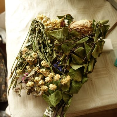 Herbal bouquets are blessed in Catholic churches all over Belarusian-Lithuanian border on the eighth day of the Corpus Christi Octave. They used to contain many species of medicinal and aromatic plants, both collected from the wild and cultivated. Photo by Julia Prakofjewa