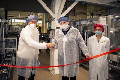Inaugurata la nuova linea di pasta con incarto compostabile Agnesi nello stabilimento Agnesi di Fossano